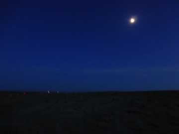 Nachtidylle im Zelt unter freiem Himmel